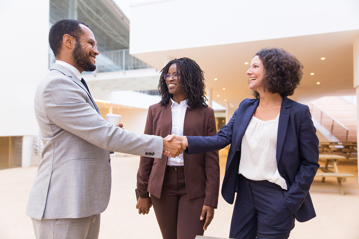 Financial Professionals shaking hands