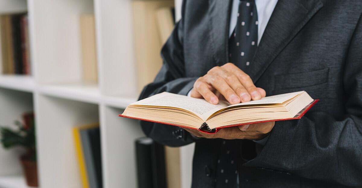 attorney reading book
